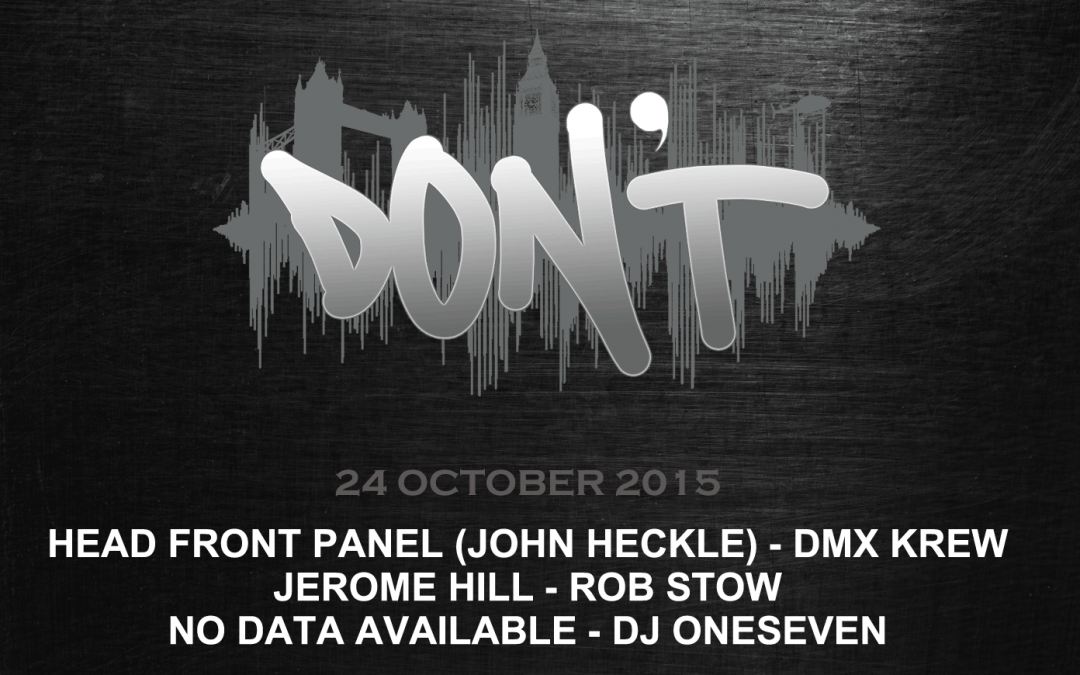 Don't : The Real Techno returns, this saturday 24th October